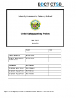 Schools Safeguarding Policy